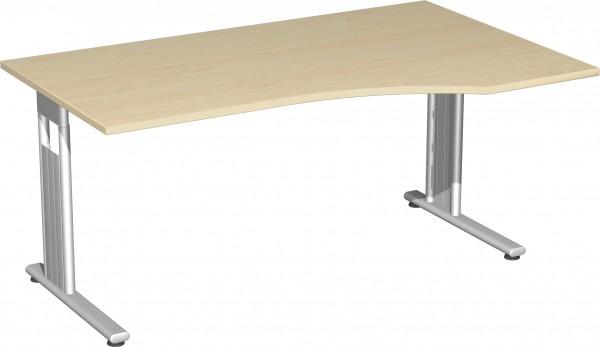 PC-Schreibtisch rechts höhenverstellbar Serie Flex (ehem. Lissabon) 180 x 68-80 x 80-100 cm Geramöbe