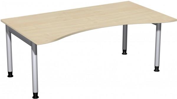 Schreibtisch Ergonomieform Serie 4 Fuß Pro 180x100x68-82 cm Geramöbel