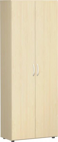Flügeltürenschrank Flex 6 Ordnerhöhen 80 x 42 x 216 cm mit Standfüßen, ohne Schloss u. Türdämpfer Ge