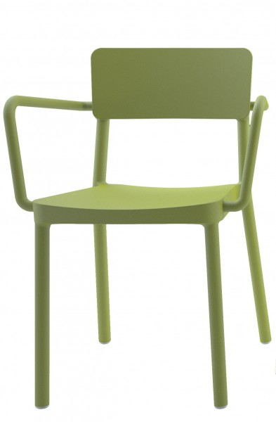 Stapelstuhl Lisboa mit Armlehnen Design Stuhl Vilagrasa