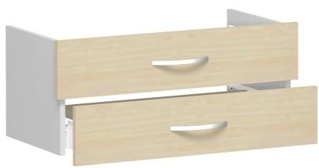 Schubkasteneinsatz Flex für Korpusbreite 80 cm 1 Ordnerhöhe Geramöbel