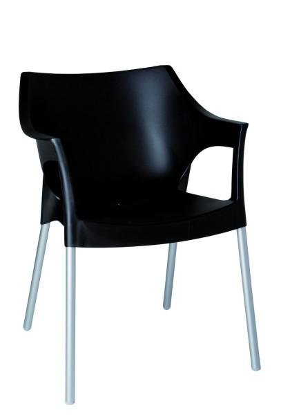 Armlehnenstuhl POLE in schwarz