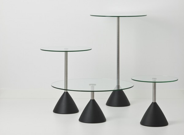 Cascando Design Beistelltisch Cobalt - Höhe 71 cm / Ø 60 cm