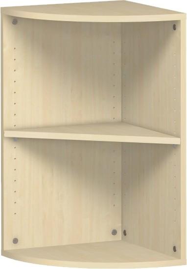 Eckanstellregal Flex 2 Ordnerhöhen mit Bodengleiter 40 x 40 x 72 cm Geramöbel