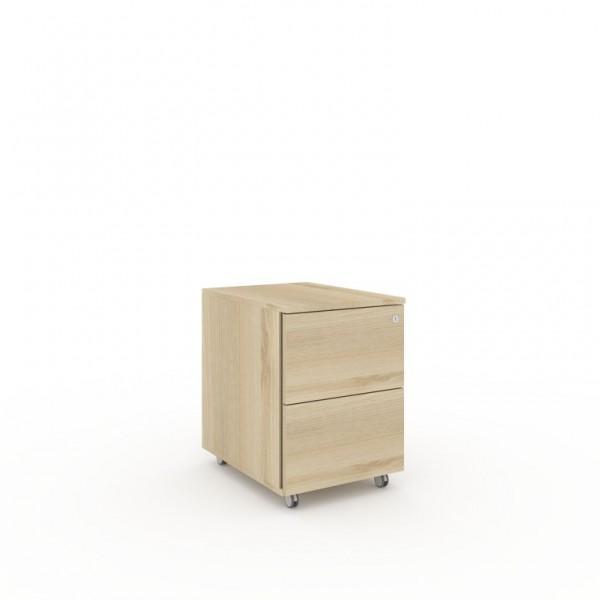 Container mit 1 Kunststoffschublade und 1 Kunststoffauszug f. Hängemappen 428x574xH593 mm