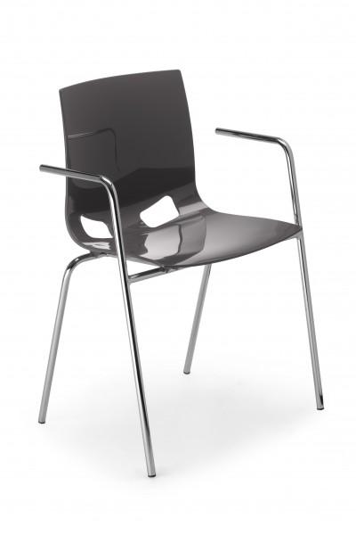 FONDO PP mit Armlehnen Kunststoffstuhl Design Besucherstuhl Nowy Style