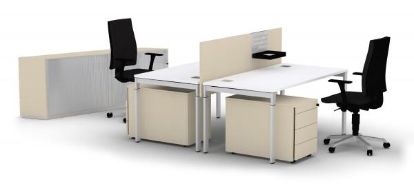 Schreibtisch SQart/E10 160x80 cm in weiss