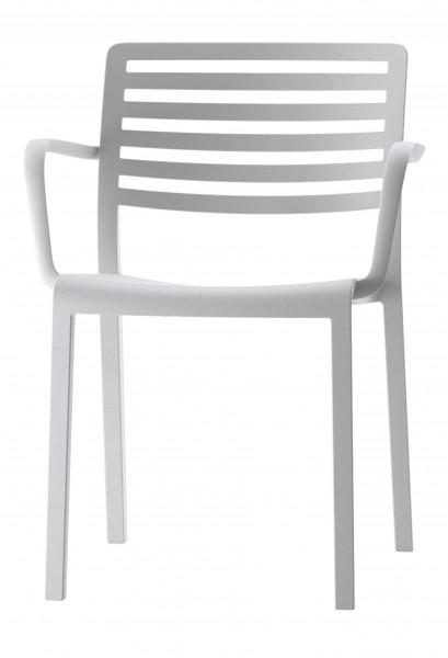 Stapelstuhl Lama mit Armlehnen Design Stuhl Vilagrasa