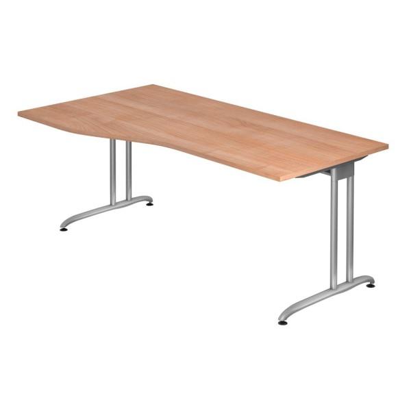 Schreibtisch Altus Trapezform auf C-Fuß-Gestell Maße (BxTxH): 180,0 x 80,0/100,0 x 72 cm