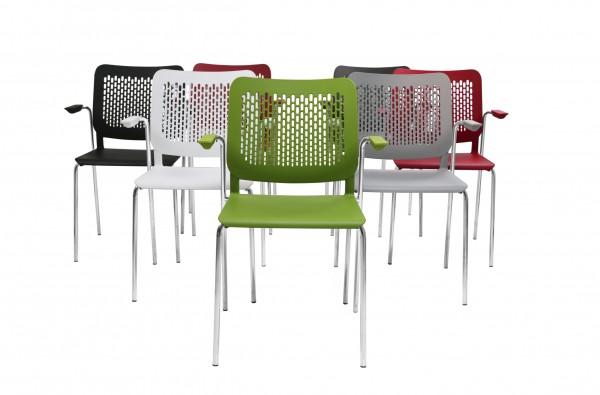Calado 4-Bein Konferenzstuhl mit Armlehnen Design Nowy Styl