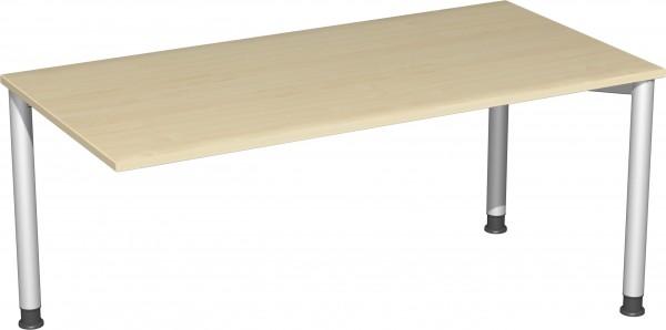 Verkettungs-Schreibtisch höhenverstellbar mit 3 Füßen Serie Stockholm 160 x 80 x 68-80 cm gera möbel