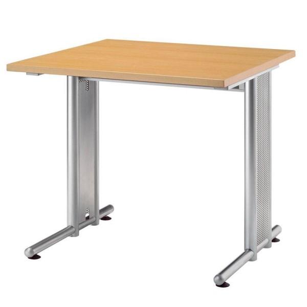 Schreibtisch auf Stahlgestell Maße (BxHxT): 80-200 x 80 x 72 cm