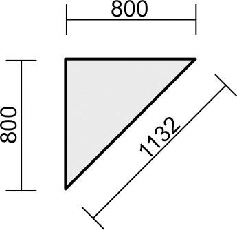 Verkettungsplatte 90° Serie 4 Fuß Flex mit Montageset 80 x 80 cm Geramöbel