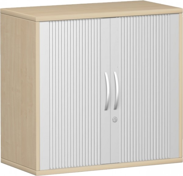 Querrollladenschrank Pro mit 2 Ordnerhöhen 76,8x42,5x80 cm Geramöbel