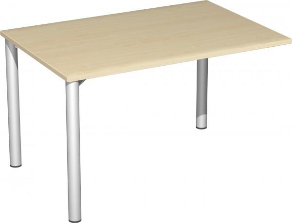 Verkettungs-Schreibtisch mit 3 Füßen Serie 4 Fuß Flex 120 x 80 x 72 cm Geramöbel
