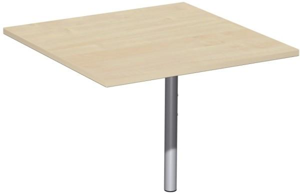 Volleckplatte 90° rechteck mit Stützfuß Serie Flex 80 x 72 x 80 cm Geramöbel