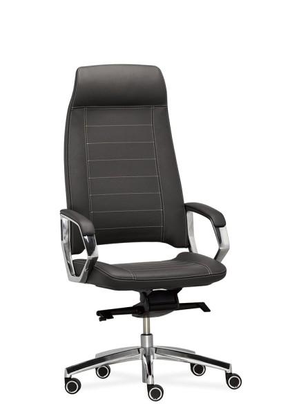 RIM Tea Vollgepolsterter Manager-Bürodrehstuhl mit hoher Rückenlehne und Kopfstütze