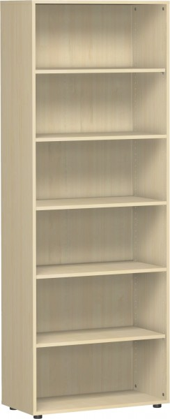 Regal Flex 6 Ordnerhöhen 80 x 42 x 216 cm mit Standfüßen Geramöbel