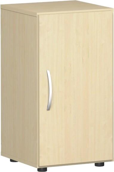 Flügeltürenschrank Flex Griff links, 2 Ordnerhöhen 40 x 40 x 75,2 cm mit Justierfüßen u. Türdämpfer