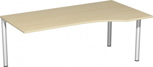 PC-Schreibtisch rechts, links verkettbar, Serie 4 Fuß Flex 180 x 72 x 80-100 cm Geramöbel
