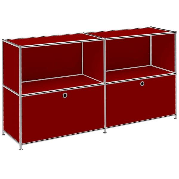 Sideboard viasit System4 mit einem Fachboden und 2 Schubladen