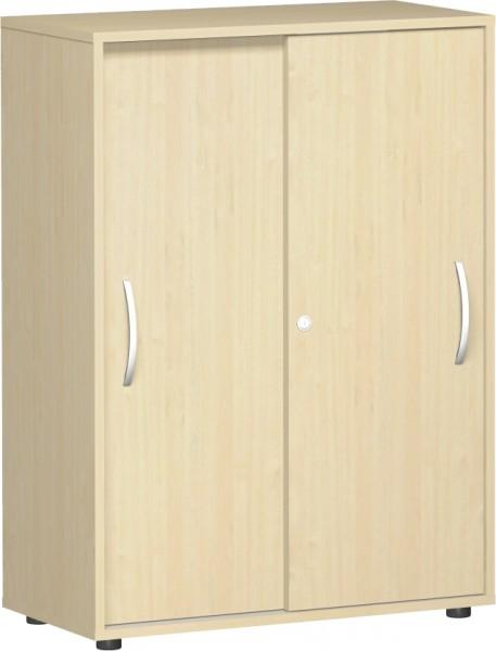 Schiebetürenschrank Flex 3 Ordnerhöhen 80 x 40 x 110,4 cm mit Justierfüßen Geramöbel
