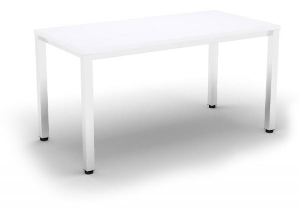 Besprechungstisch E10 Büromöbel 140x70 cm in weiss