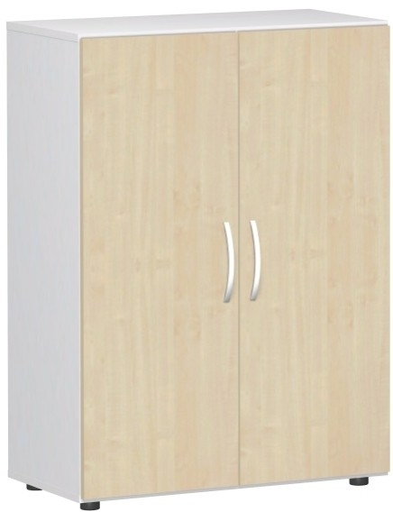 Flügeltürenschrank Flex 3 Ordnerhöhen 80 x 40 x 110,4 cm mit Justierfüßen u. Türdämpfer Geramöbel