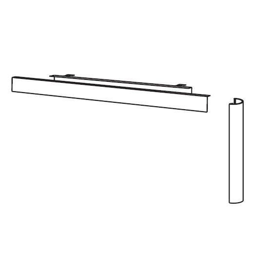 PC-Elektrifizierungs-Set für Schreibtische Flex Breite 80 cm Geramöbel