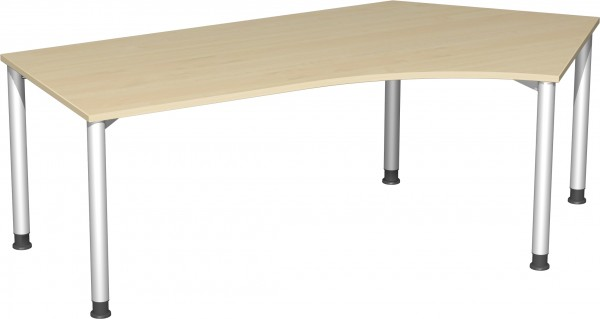 Schreibtisch 135° rechts höhenverstellbar Serie 4 Fuß Flex 113 x 68-80 x 216,6 cm Geramöbel