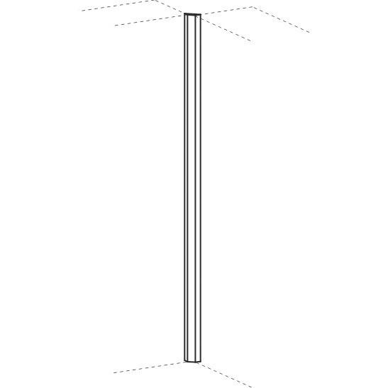 Eckblende Flex 2x 45 grad 25 x 80/130 x 2160 mm Geramöbel